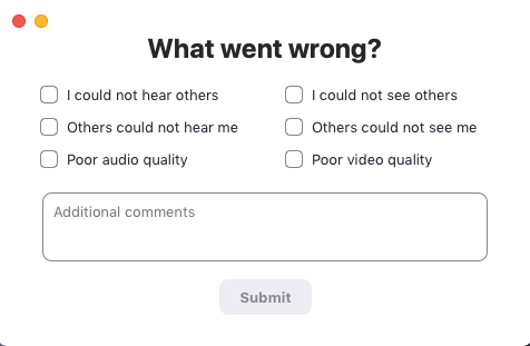 If You Click Thumbs Down Bad Will Be Asked An Additional Question About What Was Wrong With The Meeting Viewing Survey Results