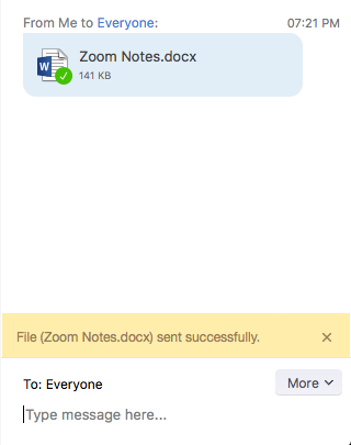 In-Meeting File Transfer – Zoom Help Center