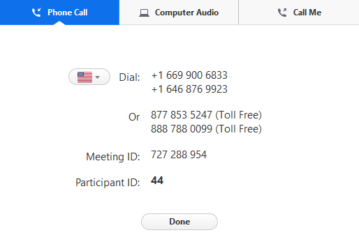 Joining a Meeting by Phone – Zoom Help Center