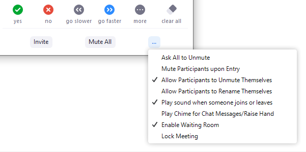 Managing Participants in a Meeting – Zoom Help Center