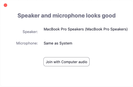 Testing Computer or Device Audio – Zoom Help Center