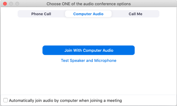 Testing Computer Or Device Audio Zoom Help Center