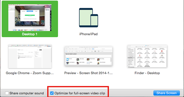 Optimizing a Screen Share of a Video Clip – Zoom Help Center
