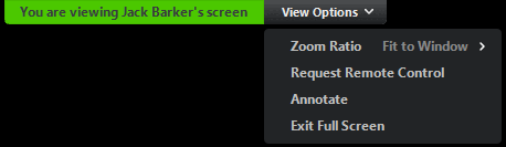 Request or Give Remote Control – Zoom Help Center