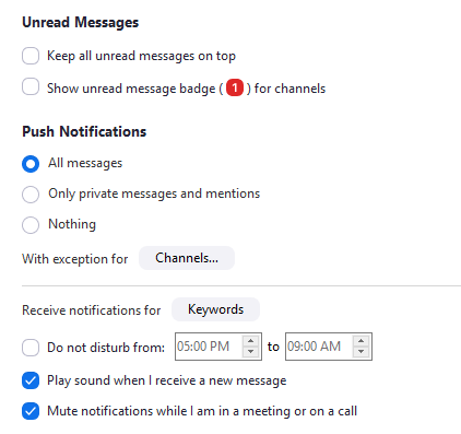 Notifications For Group Messaging – Zoom Help Center