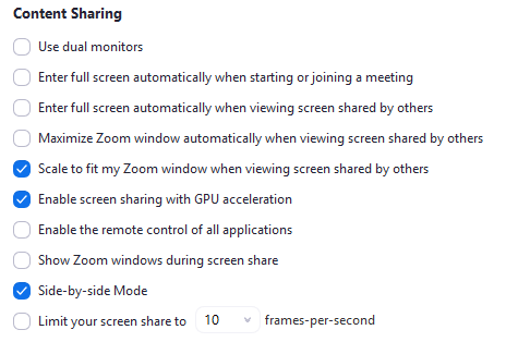 Full-screen when screen-sharing? – Zoom Help Center