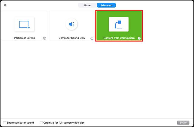 Screen Share a Camera Input – Zoom Help Center