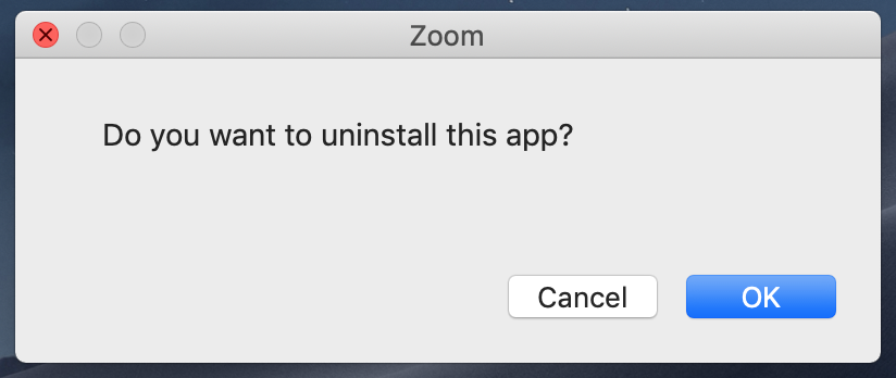 How to uninstall Zoom on a Mac? – Zoom Help Center