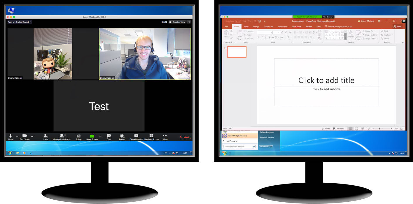 Using Dual Monitors with the Zoom Desktop Client – Zoom Help Center