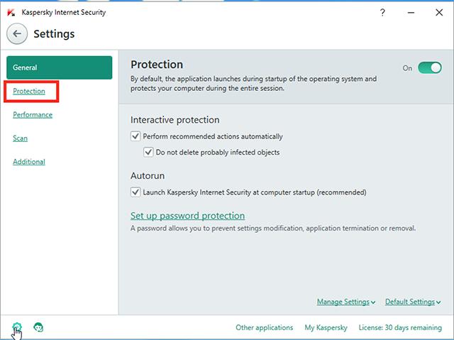 kaspersky blocking program from internet access