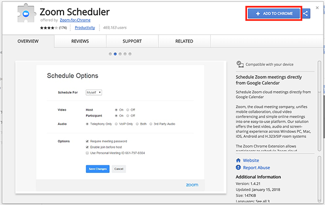 How To Use the Zoom Chrome Extension – Zoom Help Center