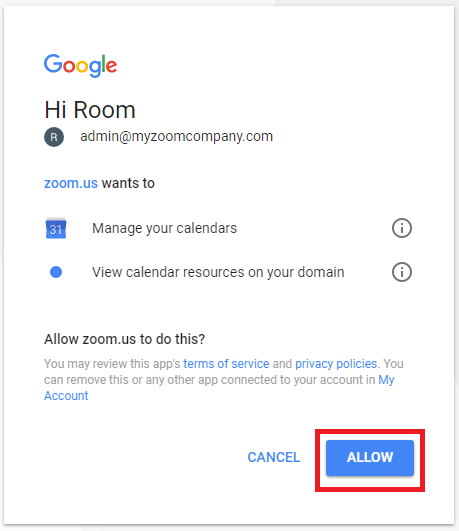 Setting Up A Room In Google Calendar