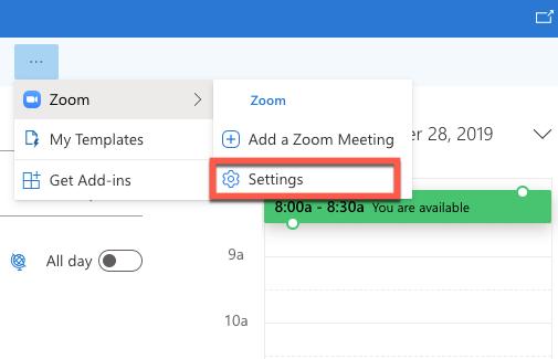 Change meeting settings