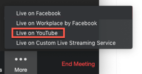 Streaming A Meeting Or Webinar On Youtube Live Zoom Help Center