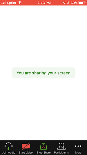 iOS Screen Sharing – Zoom Help Center