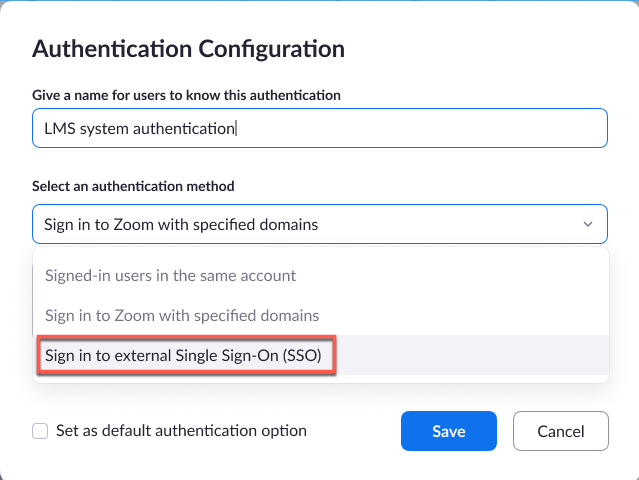 Authentication Profiles For Meetings And Webinars Zoom Help Center