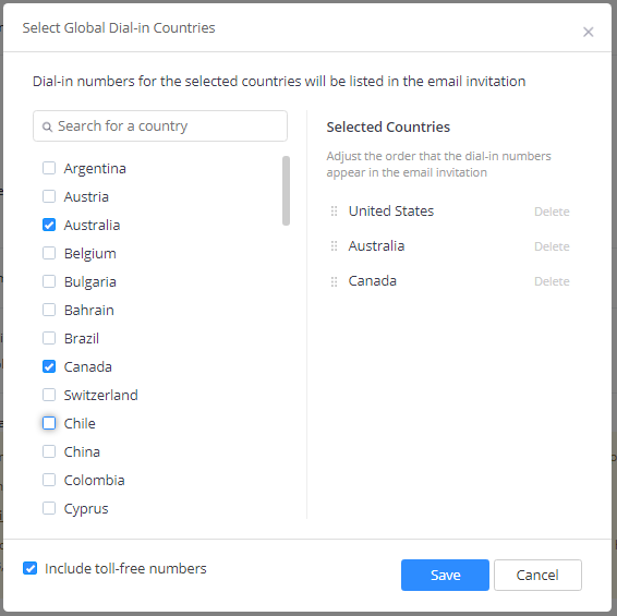 Specifying Default Dial-in Countries – Zoom Help Center