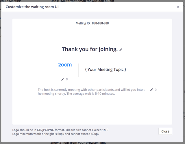 Waiting Room – Zoom Help Center