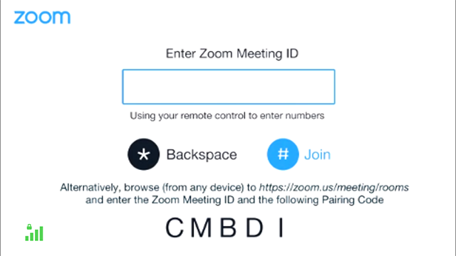 Joining Via Pairing – Zoom Help Center
