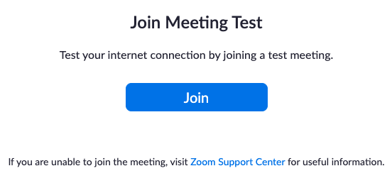 Joining a Test Meeting – Zoom Help Center