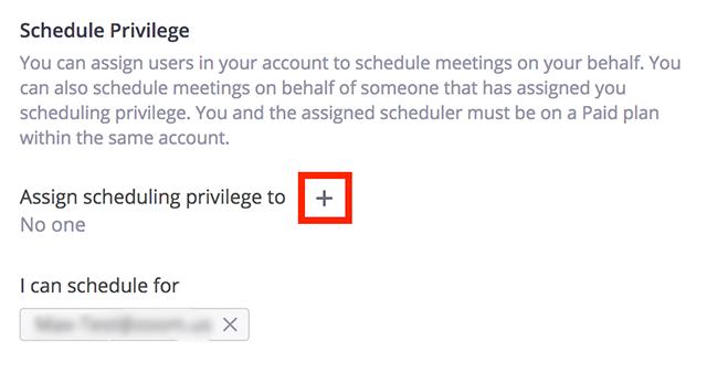 Scheduling Privilege – Zoom Help Center