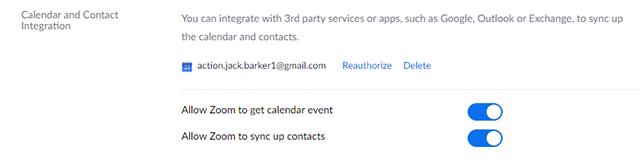 Desktop Client Calendar and Contacts Integration – Zoom Help