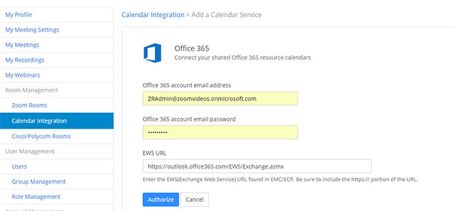 Setting Up Zoom Rooms with Office 365 – Zoom Help Center
