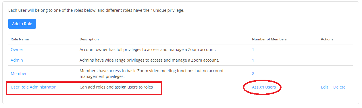 Role-Based Access Control – Zoom Help Center