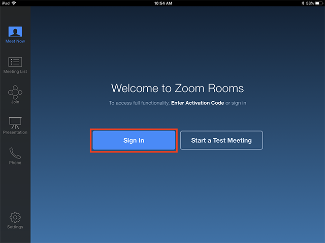 Image result for zoom rooms ipad controller